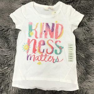 Manguun | Girl's T-shirt | Kindness Matters| White